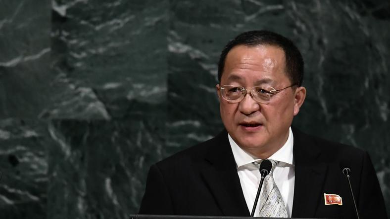 Ri Jong Ho na forum Zgromadzenia Ogólnego ONZ