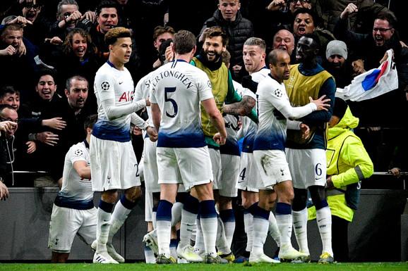 Fudbaleri Totenhema slave gol protiv Mančester sitija u prvom meču četvrtfinala Lige šampiona