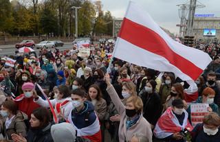 Blisko 50 osób zatrzymanych na protestach w Mińsku
