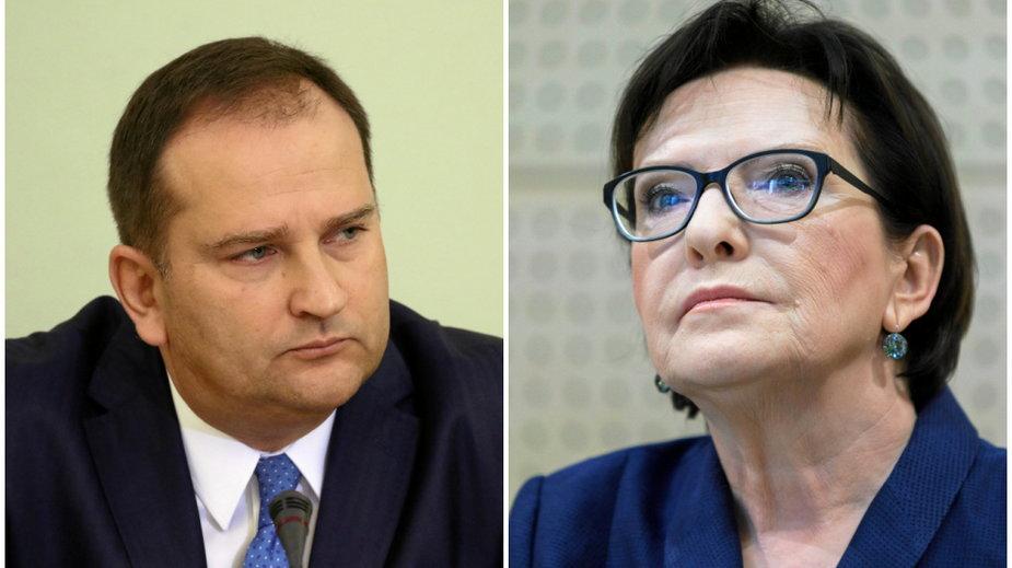 Tomasz Arabski i Ewa Kopacz