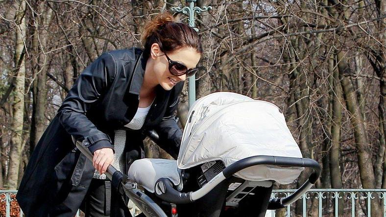 Katarzyna Glinka z synem Filipem