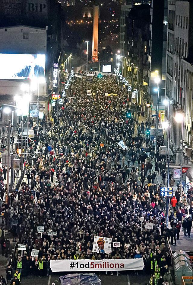 """Protesti """"1 od 5 miliona"""" traju već tri i po meseca"""