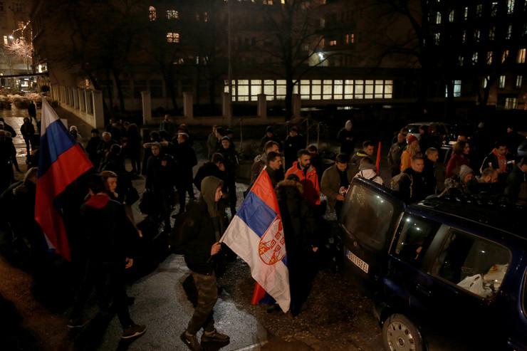 Protest podrške Srbima u CG litija do Orašca