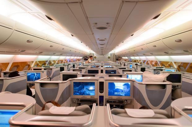 Wnętrze Airbusa A380 linii Emirates