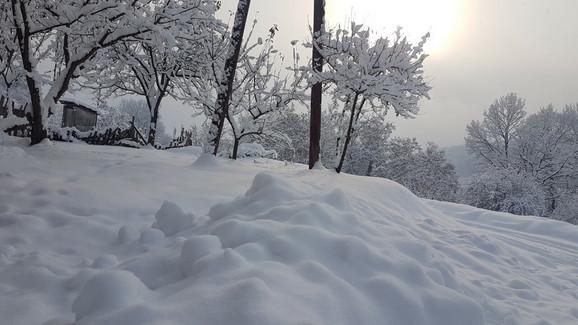 Sneg u okolini Prijepolja
