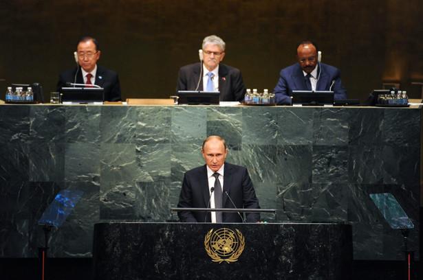 Władimir Putin podczas przemówienia w ONZ