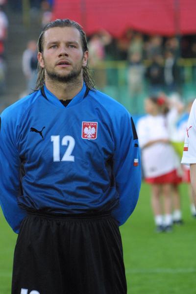 Radosław Majdan w reprezentacji Polski (2002 r.)