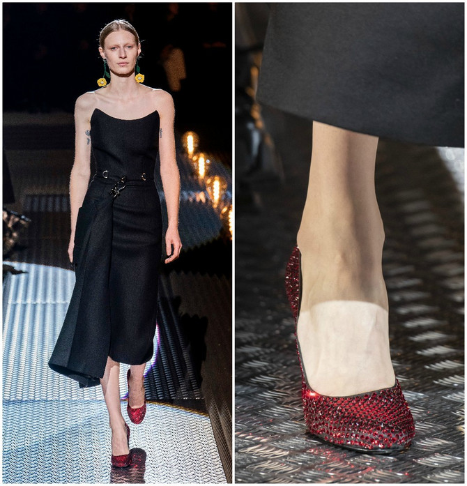 Crvene cipele na Prada reviji
