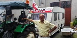 Filmowa podróż emeryta. Traktorem przez Polskę