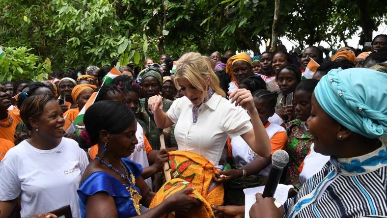 Córka prezydenta USA odbywała w tym tygodniu służbową wizytę m.in. na Wybrzeżu Kości Słoniowej...