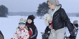 Richardson z dziećmi i pieskiem