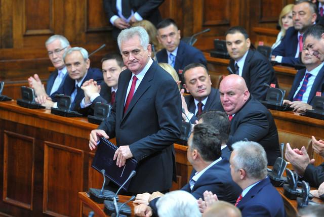 Pod lupom: Tomislav Nikolić prilikom polaganja predsedničke zakletve