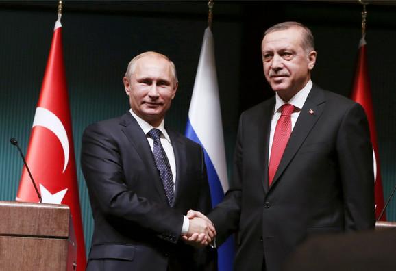 Vladimir Putin i Redžep Tajip Erdogan