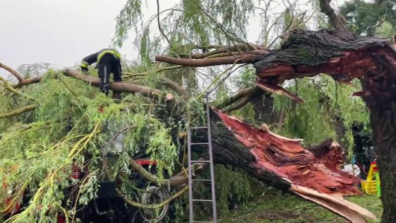 Trąba powietrzna zniszczyła wieś na Podlasiu
