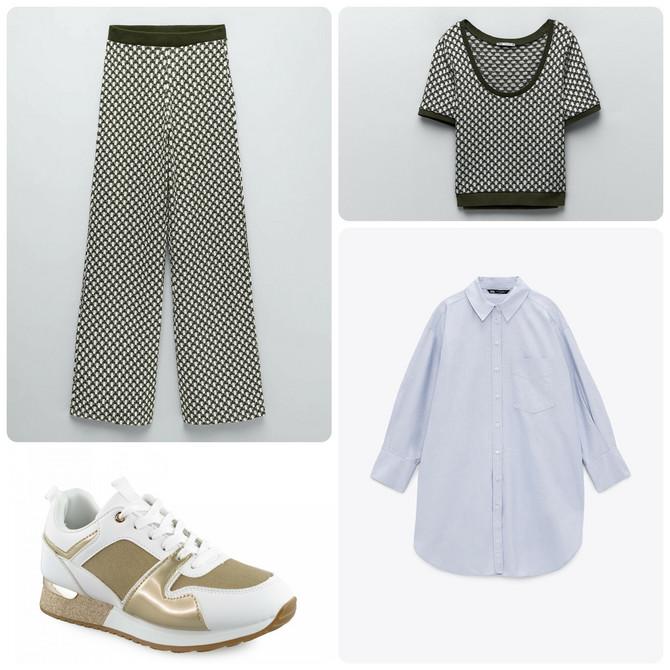 "Bluza, pantalone i košulja ""Zara"", patike ""Metro"""