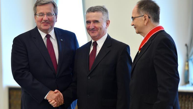 Bronisław Komorowski, Leon Kieres i Adam Jamroz, fot. PAP/Jacek Turczyk