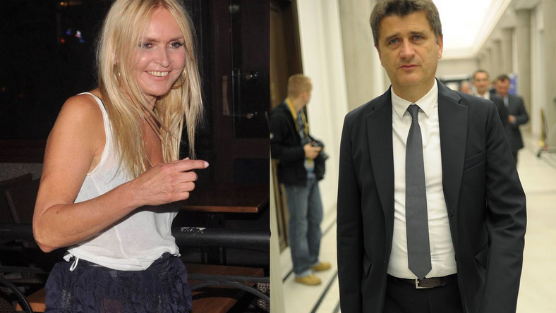 Monika Olejnik i Janusz Palikot