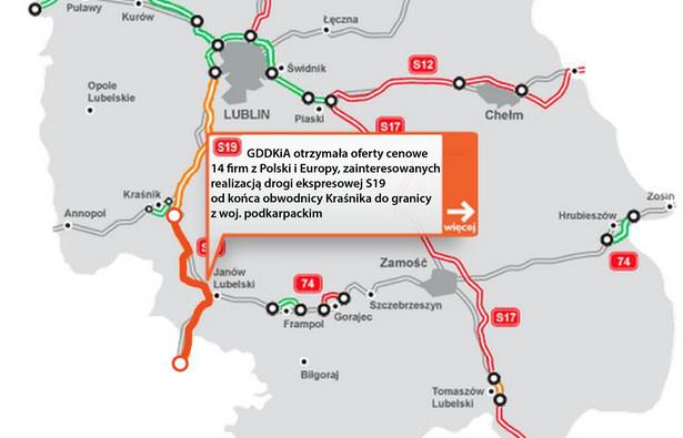 S19 - od końca obwodnicy Kraśnika do granicy z woj. podkarpackim