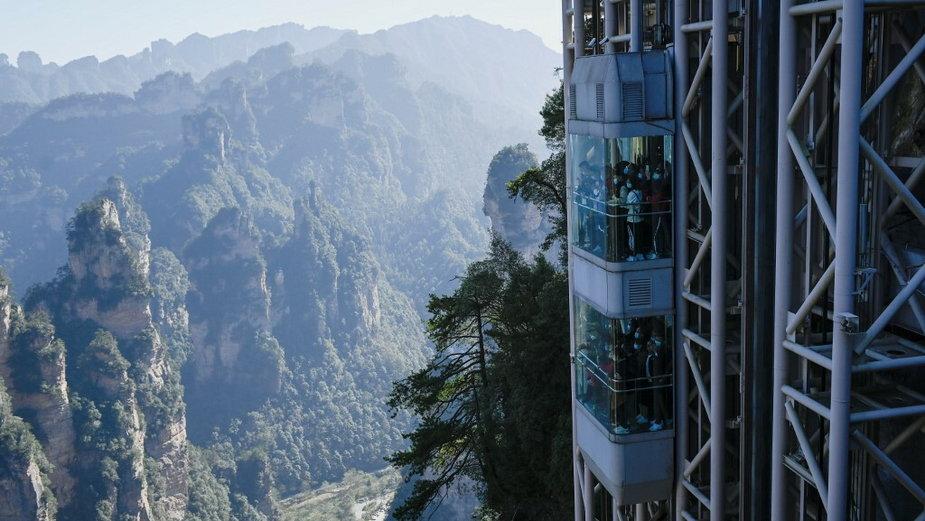 Najwyższa na świecie zewnętrzna winda widokowa, Park Narodowy Zhangjiajie Wulingyuan