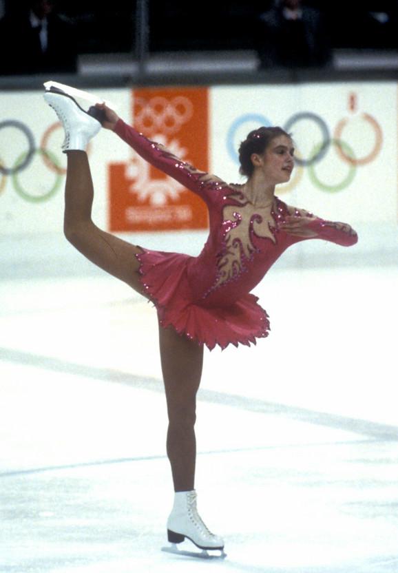 Katarina Vit na Olimpijskim igrama u Sarajevu 1984.