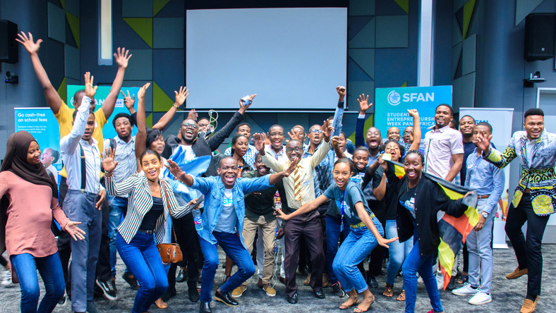 SFAN's team and contestants at the Student Entrepreneurship Week 2019