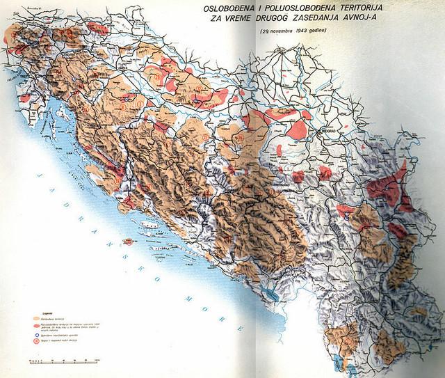 Oslobođena teritorija za vreme drugog zasedanja AVNOJ-a
