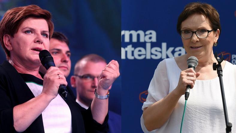 Beata Szydło i Ewa Kopacz, fot. PAP/Radek Pietruszka i Andrzej Grygiel