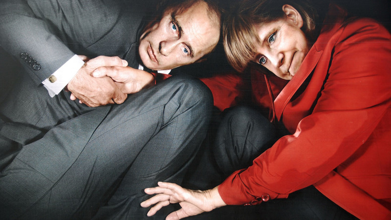 Władimir Putin i Angela Merkel - fotomontaż