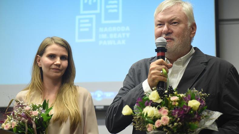 Krzysztof Kopczyński i Anna Sajewicz - laureacji nagrody im. Beaty Pawlak