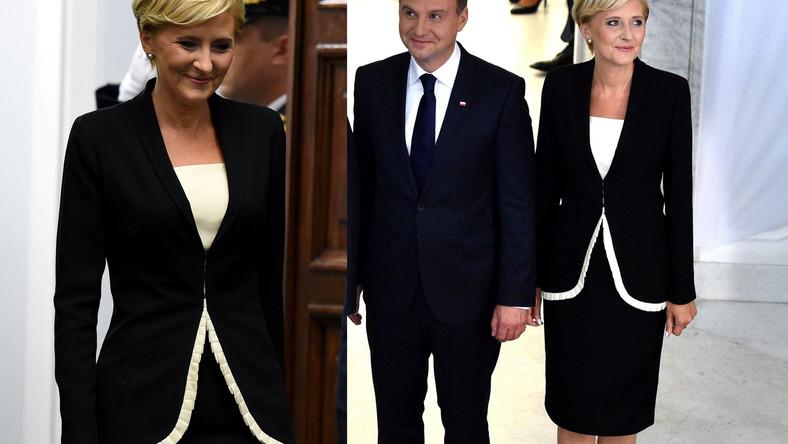 Agata Duda towarzyszyła mężowi podczas składania przysięgi prezydenckiej przed Zgromadzeniem Narodowym w Sejmie.