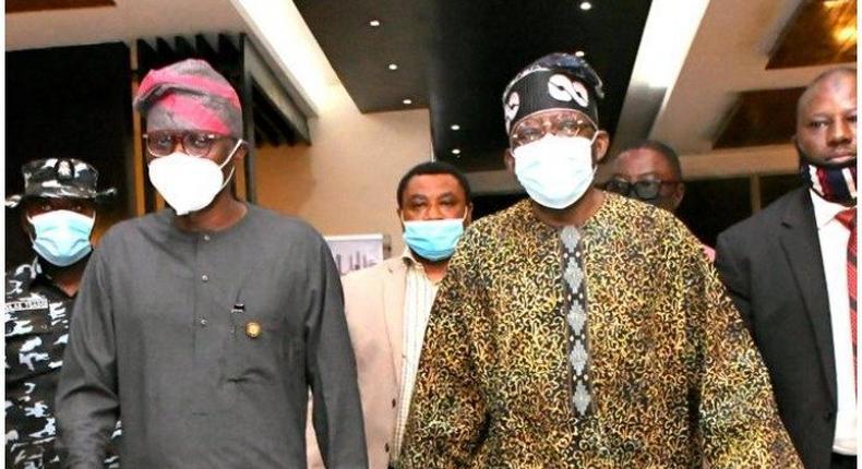 Governor Babajide Sanwo-Olu and Bola Tinubu. (Punch)