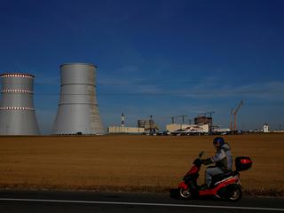 The construction site of the very first Belarusian nuclear power plant, which will have two power-generating units, is seen near the town of Ostrovets