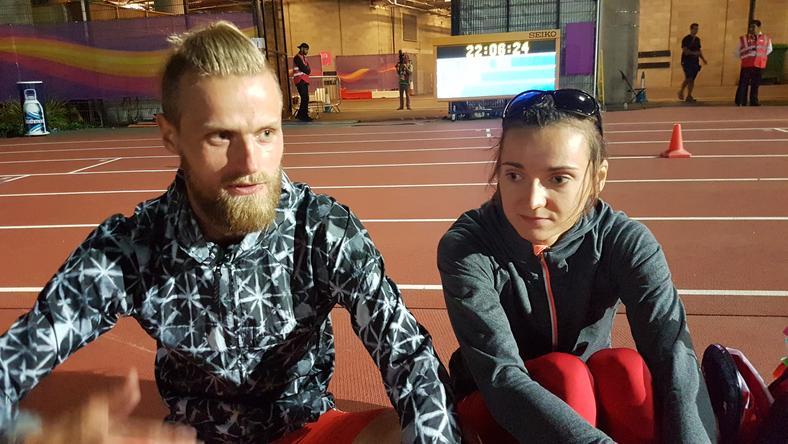 Joanna Mazur wraz z przewodnikiem Michałem Stawickim