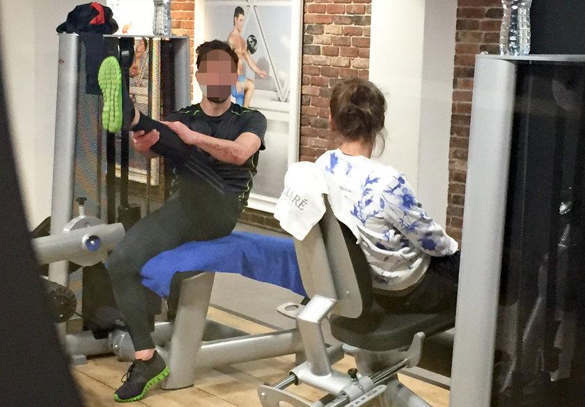 Olga Frycz na siłowni