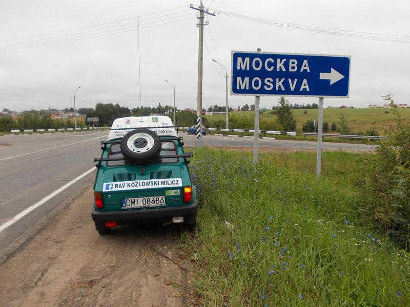 Rafał Kozłowski (40 l.) dojechał maluchem do Władywostoku