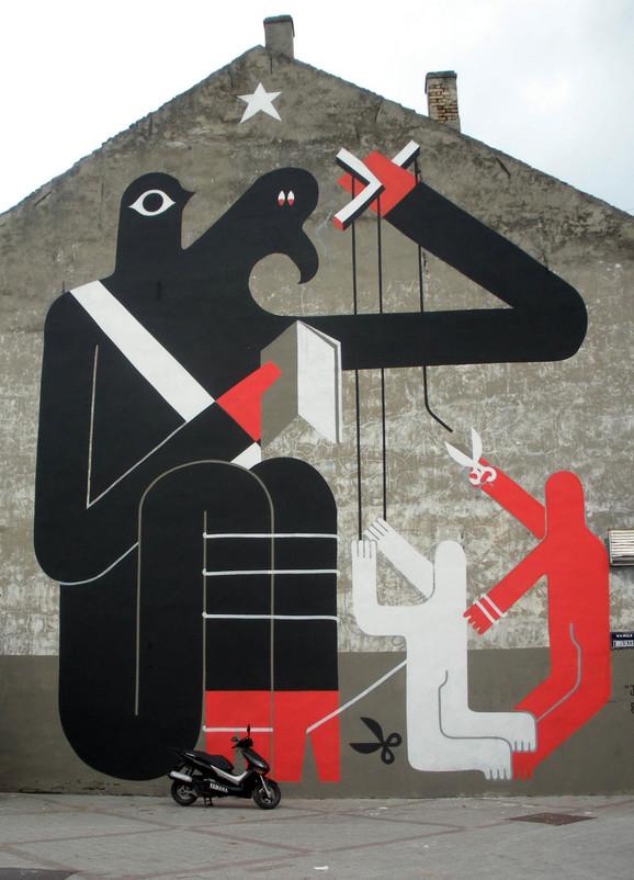 Mural koji je krasio zid