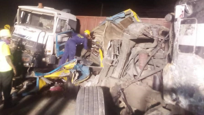Seven passengers were rescued from the wreckage caused by the accident [LASEMA]