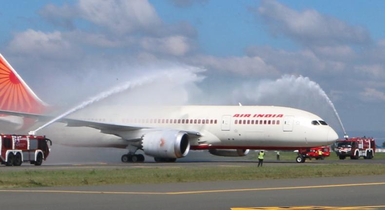Air India at JKIA. (twitter)