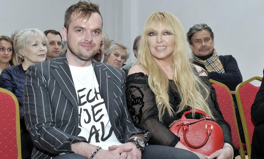 Maryla Rodowicz z synem Jędrkiem Dużyńskim