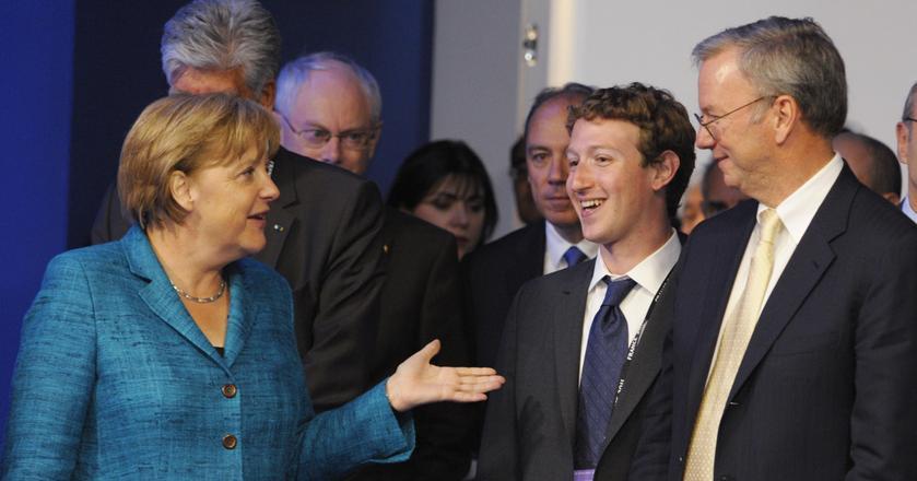Angela Merkel podczas rozmowy z Markiem Zuckerbergiem