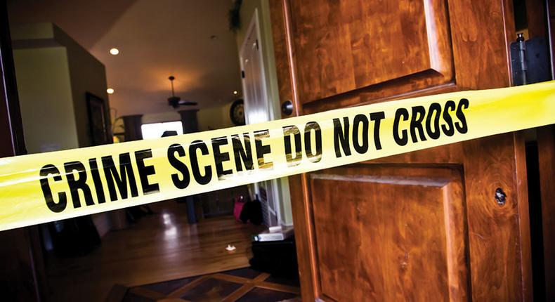 File image of a crime scene cordoned off A fourth year student at Moi University was stabbed to death on Saturday morning