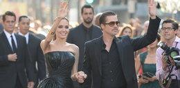 Angelina i Brad cali w czerni