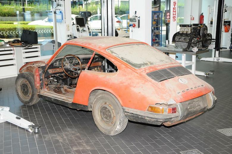 Porsche 911 (901) z 1964 r. przed renowacją
