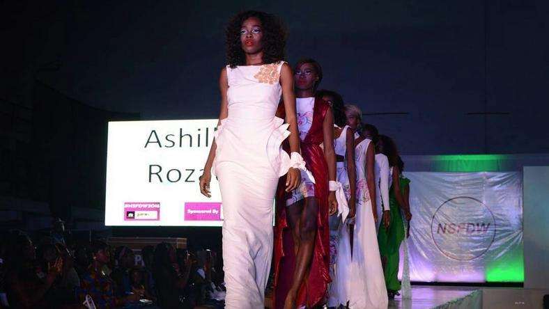ASHILLA ROZAE showcasing at the Nigerian Student Fashion And Design Week