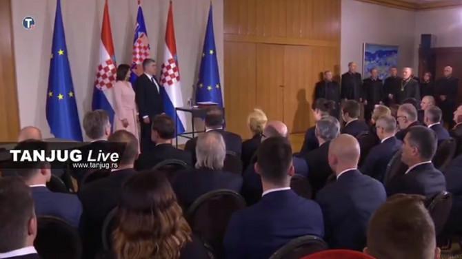 Bračni par Milanović na inauguraciji
