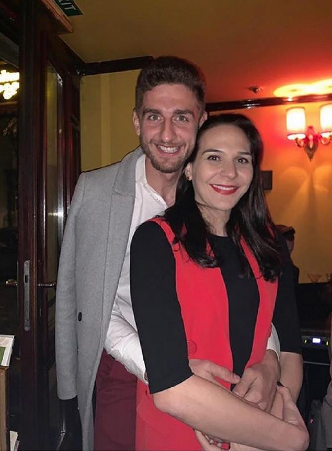 Sonja Petrović i Miloš Vasić: bodrio je verenicu sa tribina tokom Evropskog prvenstva