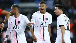 Neymar, Kylian Mbappe and Lionel Messi played together for the first time in midweek but PSG were held by Club Brugge in the Champions League Creator: KENZO TRIBOUILLARD