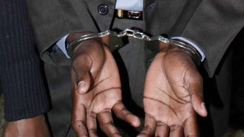 A man in handcuffs (twitter)