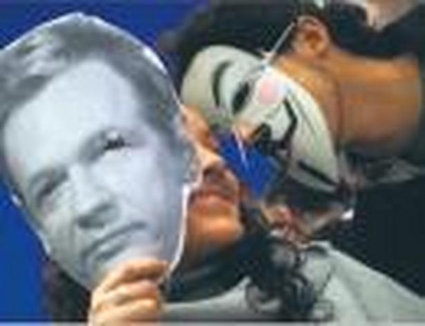 Manifestacja zwolenników Juliana Assange,a w hiszpańskiej Maladze Fot. Reuters/Forum