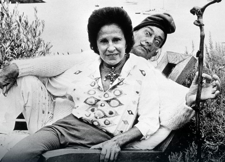 Salvador Dali z żoną Galą, ok. 1970 r.